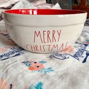 Rae Dunn Merry Christmas Glass Bowl